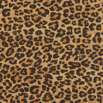 """Portuguese Natural Printed Cork Leopard Print - Sizing from 70cm x 50cm (27-1/2"""" x 19-1/2"""")"""