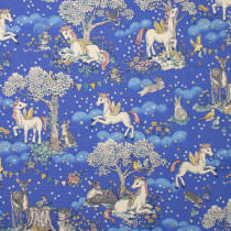 Forest Friends Unicorns Blue by Kokka Fabric