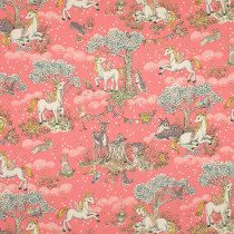Forest Friends Unicorns Pink by Kokka Fabric
