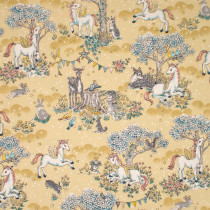 Forest Friends Unicorns Cream by Kokka Fabric