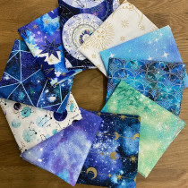 Magical Galaxy FQ Pack - 10pc By 3 Wishes Fabric