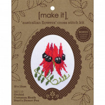 Make It Timber Frame Cross Stitch Kit Australian Flowers