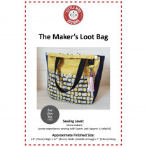 Makers Loot Bag Sewing Pattern by Little Moo Designs