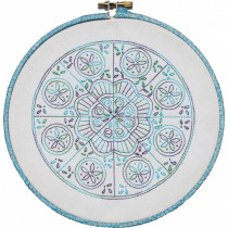 Mini Mandala Block F - Pre-printed Embroidery Pattern by Nikki Tervo Designs