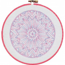 Mini Mandala Block I - Pre-printed Embroidery Pattern by Nikki Tervo Designs