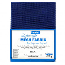 "Mesh Fabric Light Weight 18"" X 54"" (46cm x 137cm) - Blast Off Blue from by Annie"