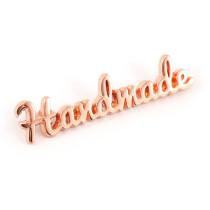 Emmaline Bags Metal Bag Label: Script Style Handmade Copper (Rose Gold)