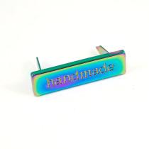 Emmaline Bags Metal Bag Label: Handmade Iridescent Rainbow