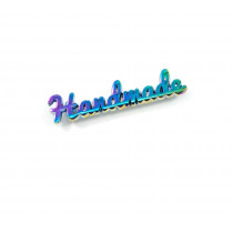 Emmaline Bags Metal Bag Label: Script Style Handmade Iridescent Rainbow
