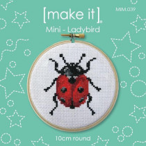 "Make It Mini Cross Stitch Kit Ladybird 10cm (4"")"