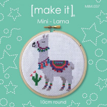 "Make It Mini Cross Stitch Kit Llama 10cm (4"")"