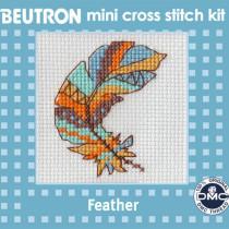 Beutron Mini Cross Stitch Kit Feather
