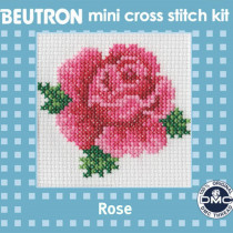 Beutron Mini Cross Stitch Kit Rose