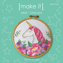 "Make It Mini Cross Stitch Kit Unicorn 10cm (4"")"