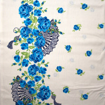 Charming by Gertie So Fancy Border Sapphire by Michael Miller