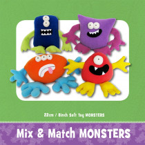 Mix & Match Monsters Soft Toy Sewing Pattern by Funky Friends Factory
