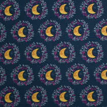 Mystic Land Crescent Moons Blue by Art Gallery Fabrics