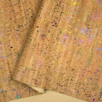 "Portuguese Natural Cork with Rainbow Flecks - Sizing from 70cm x 50cm (27-1/2"" x 19-1/2"")"