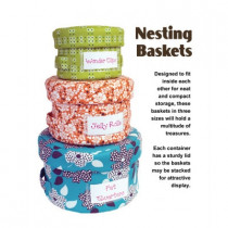 Nesting Baskets Sewing Pattern from byAnnie
