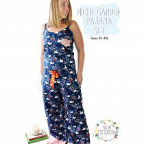 Night Garden Pajama Set Sewing Pattern by Sew To Grow