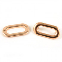 Emmaline Bags Oval Shaped Metal Grommet with Prongs 25mm Copper - 4pk