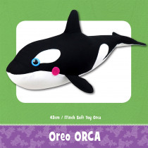 Oreo the Orca Soft Toy Sewing Pattern by Funky Friends Factory