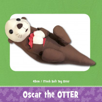Oscar the Otter Soft Toy Sewing Pattern by Funky Friends Factory