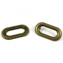 Emmaline Bags Oval Shaped Metal Grommet with Prongs 25mm Antique Brass - 4pk