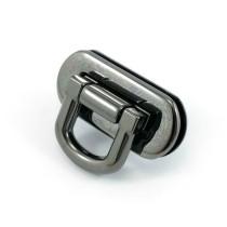 Emmaline Bags Oval Flip Lock Gunmetal