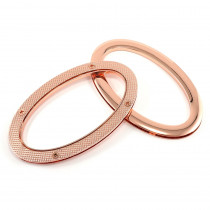 Emmaline Bags Oval Grommet Bag Handles Copper (Rose Gold) - 1 Pair with Screws
