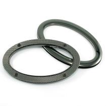 Emmaline Bags Oval Grommet Bag Handles Gunmetal - 1 Pair with Screws