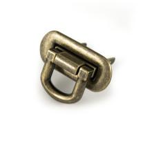 Emmaline Bags Oval Flip Lock Antique Brass