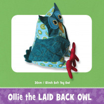 Ollie and Lolly Owl Soft Toy Pattern by Funky Friends Factory