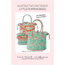 Little Poppins Bag Sewing Pattern with Stays by Aunties Two