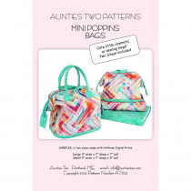 Mini Poppins Bag Sewing Pattern with Stays by Aunties Two
