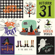 "Hocus Pocus 24"" Fabric Panel Multi by Riley Blake Designs"