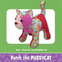 Patch the Pussy Cat Soft Toy Sewing Pattern by Funky Friends Factory