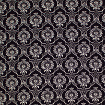 Couture Noir Damask Black by P & B Textiles