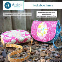 Peekaboo Purse Sewing Pattern by Andrie Designs