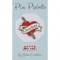 Pin Points by RicraC - Crochet Love Red Enamel Pin