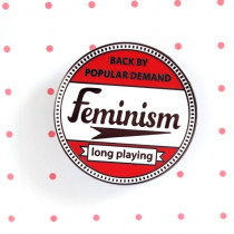 Pin Points by RicraC - Feminism Red Enamel Pin