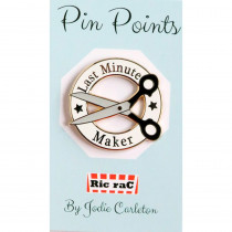 Pin Points by RicraC - Last Minute Maker Black Enamel Pin