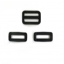 "Voodoo Bag Hardware Plastic Satchel Set 25mm (1"") Black"