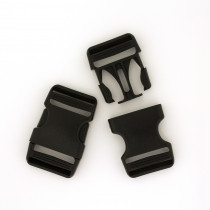 "Voodoo Bag Hardware Plastic Side Release Buckle 25mm (1"") Black - 2pk"