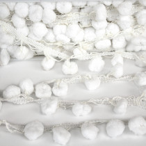 Pom Pom Trim Large White