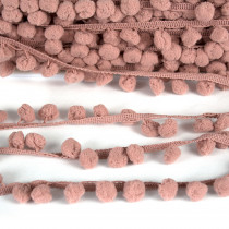 Pom Pom Trim Regular Dusty Pink