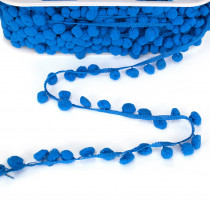 Pom Pom Trim Regular Bright Blue
