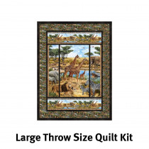 Savanna Panelrama Quilt Kit Throw Size