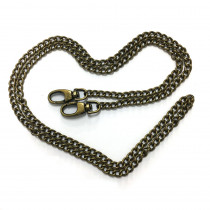 "Emmaline Bags Purse Chain w/ Swivel Snap Hooks Antique Brass 112cm (44"")"