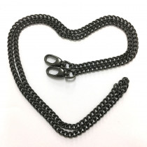 "Emmaline Bags Purse Chain w/ Swivel Snap Hooks Gunmetal 112cm (44"")"